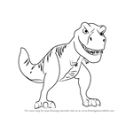 How to Draw Tiny the T-Rex from Meet the Robinsons