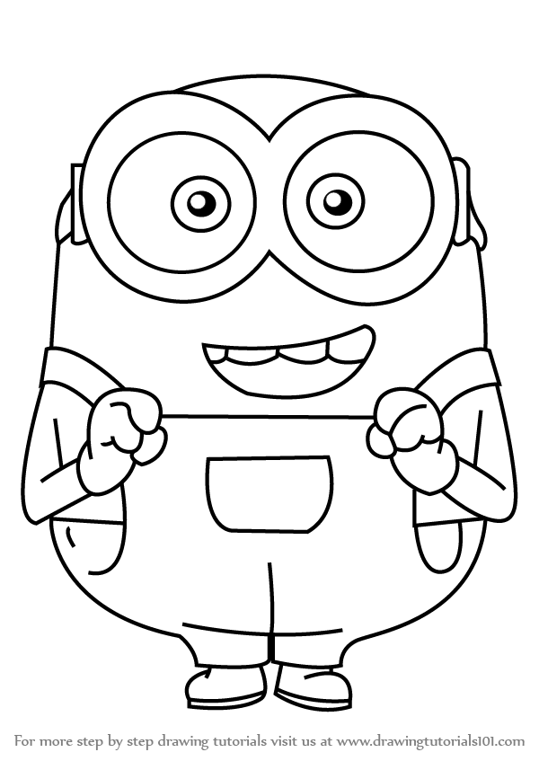 to Draw Bob from Minions (Minions) Step by Step : Drawing Tutorials ...