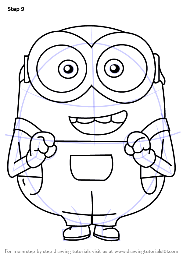 Step By Step How To Draw Bob From Minions
