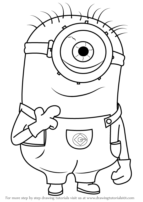 Learn How to Draw Stuart from Minions (Minions) Step by ...