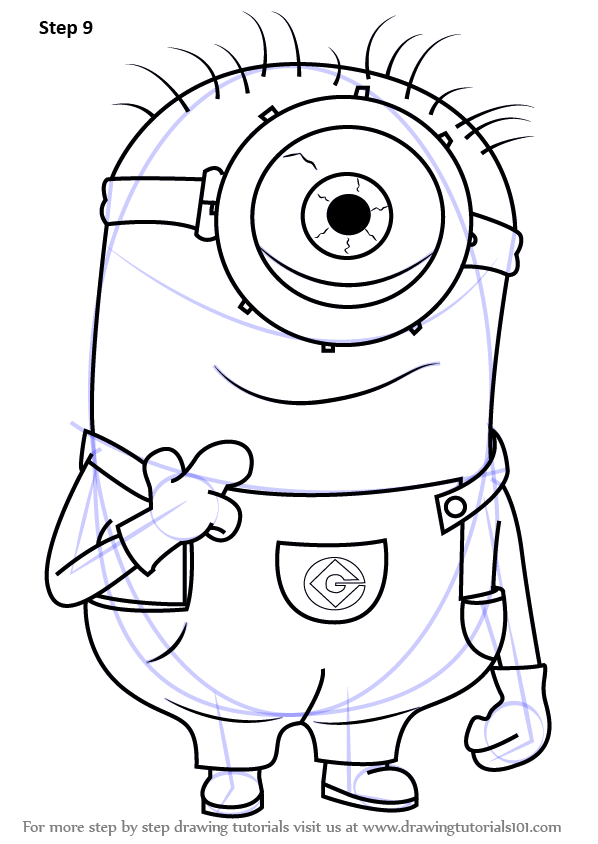 how to draw minion tutorial