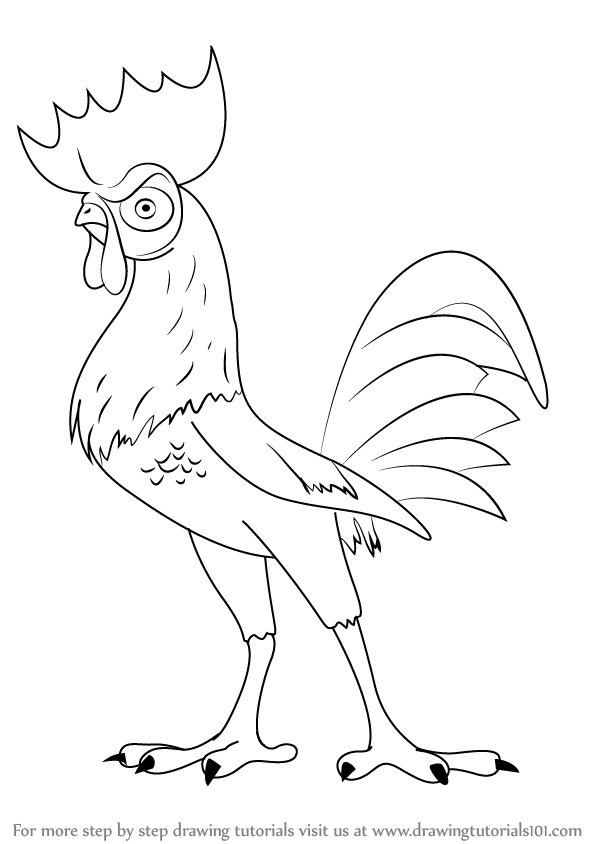Adventure Time Kleurplaat Step By Step How To Draw Hei Hei From Moana