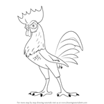 How to Draw Hei Hei from Moana