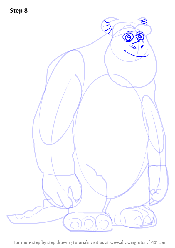Learn How To Draw James P Sullivan From Monsters Inc Monsters
