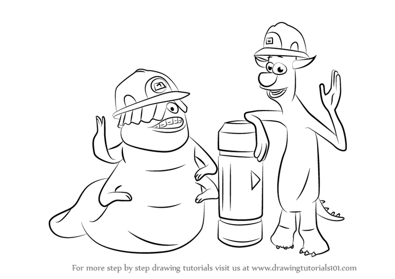 Learn How To Draw Smitty And Needleman From Monsters Inc Monsters