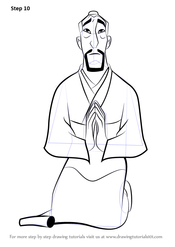 Learn How To Draw Fa Zhou From Mulan Mulan Step By Step