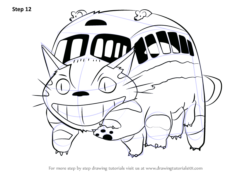 Learn How to Draw Catbus from My Neighbor Totoro (My Neighbor ...