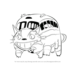 How to Draw Catbus from My Neighbor Totoro