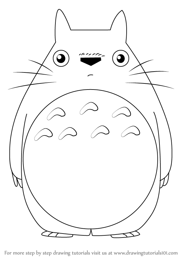 Learn How To Draw Totoro From My Neighbor Totoro My