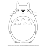 How to Draw Totoro from My Neighbor Totoro