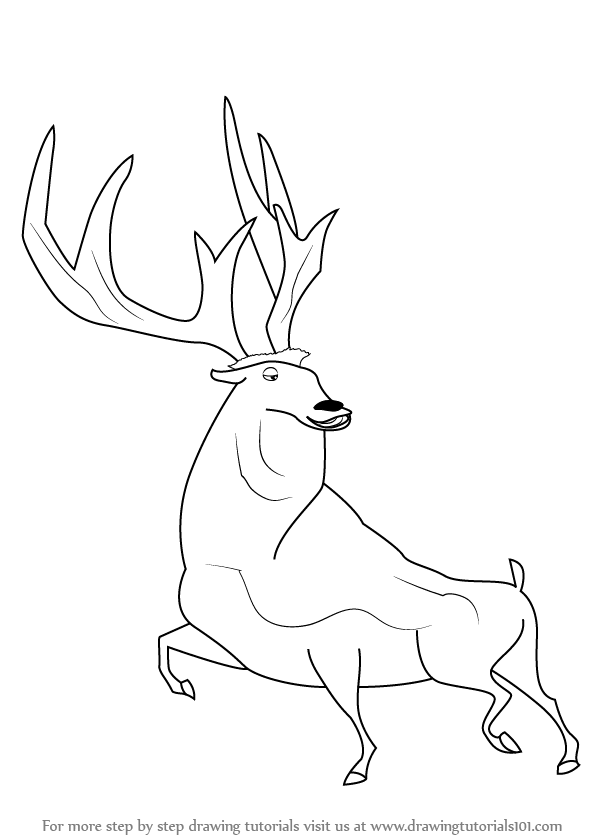 Learn How to Draw Ian from Open Season Open Season Step