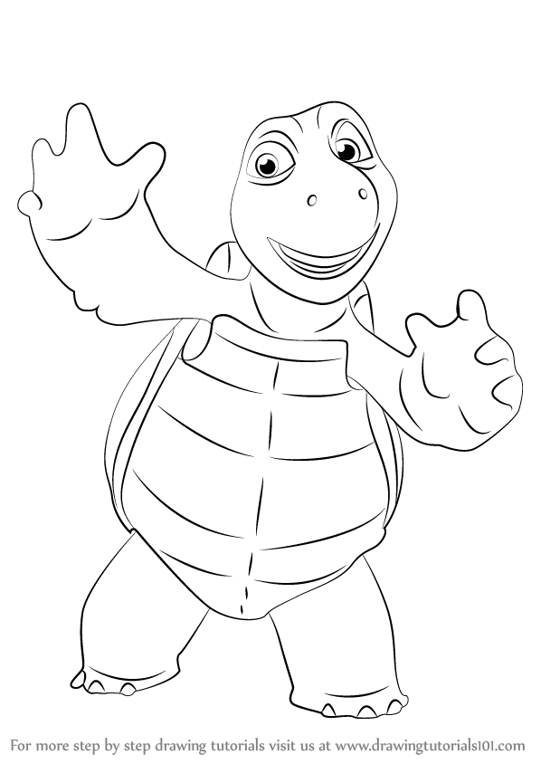 Learn How To Draw Verne From Over The Hedge Over The