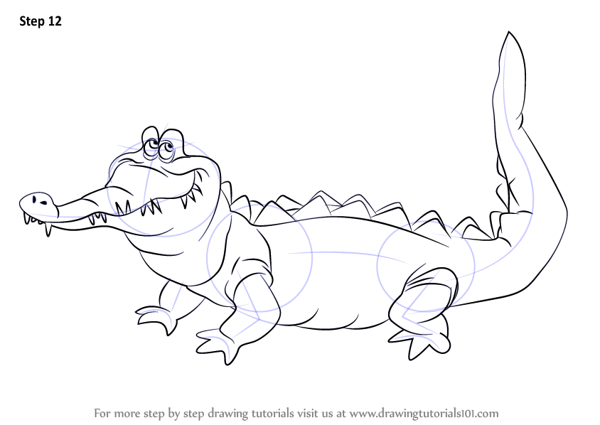 Learn How to Draw The Crocodile from Peter Pan (Peter Pan ... - photo#42