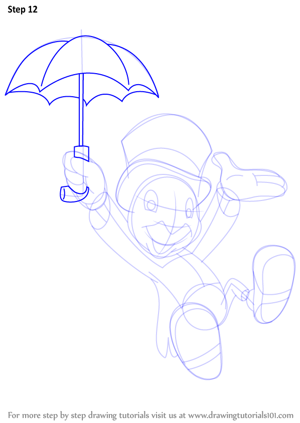 Learn How To Draw Jiminy Cricket From Pinocchio Pinocchio