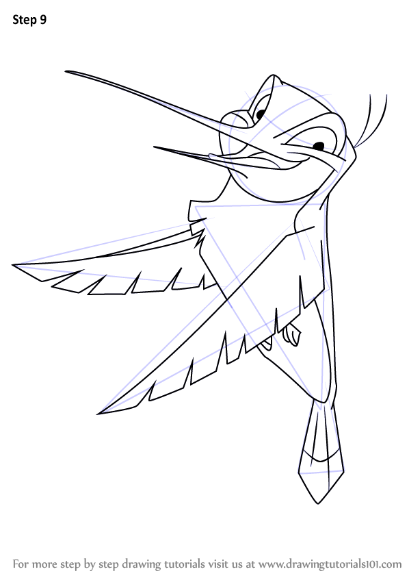 Learn How To Draw Flit From Pocahontas Pocahontas Step