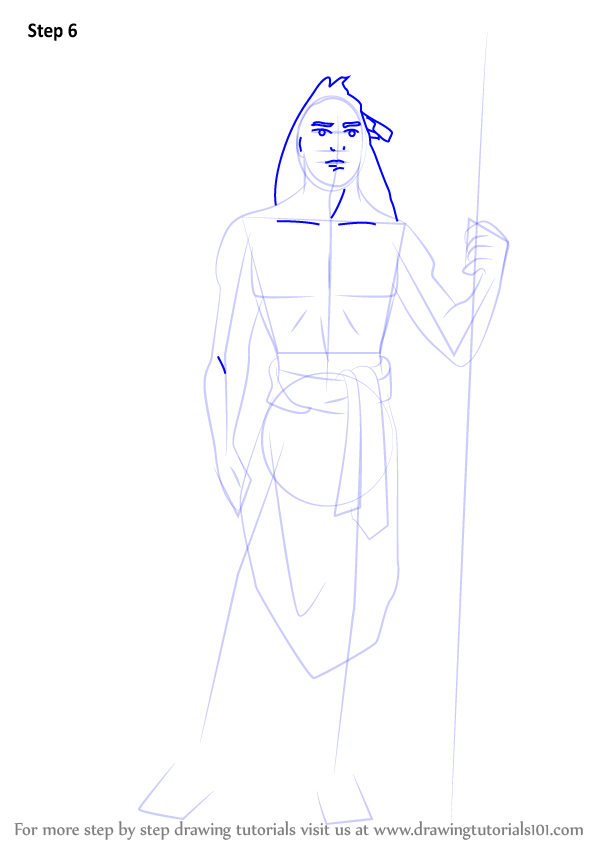 Step By Step How To Draw Kocoum From Pocahontas