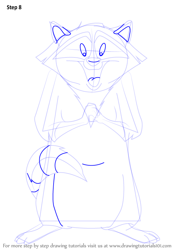 Learn How To Draw Meeko From Pocahontas Pocahontas Step