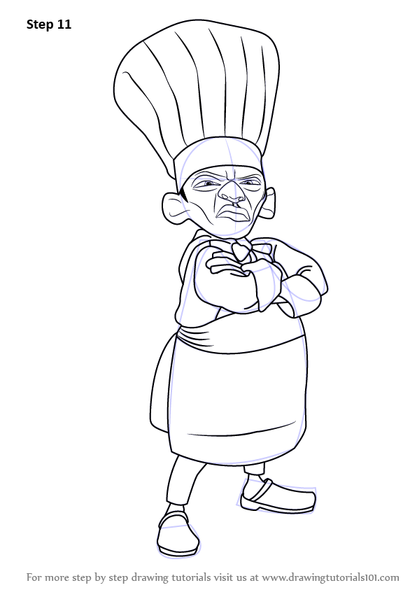 Learn How To Draw Skinner From Ratatouille Ratatouille Step By Step Drawing Tutorials