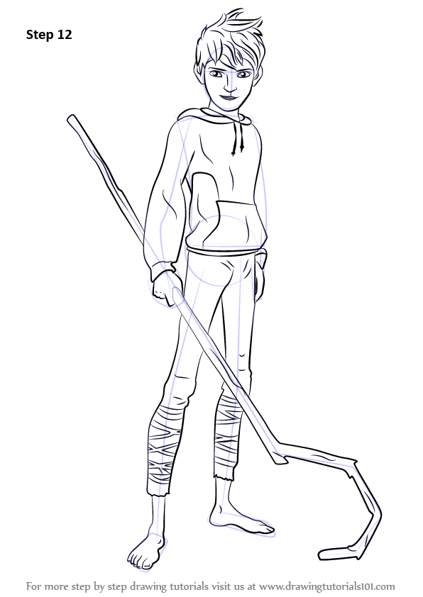 Learn How To Draw Jack Frost From Rise Of The Guardians