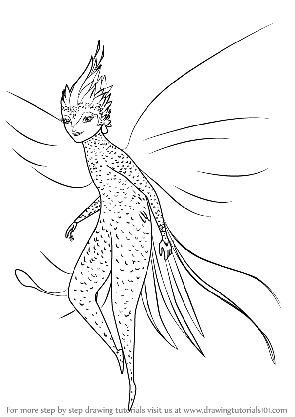 Learn How To Draw Tooth Fairy From Rise Of The Guardians
