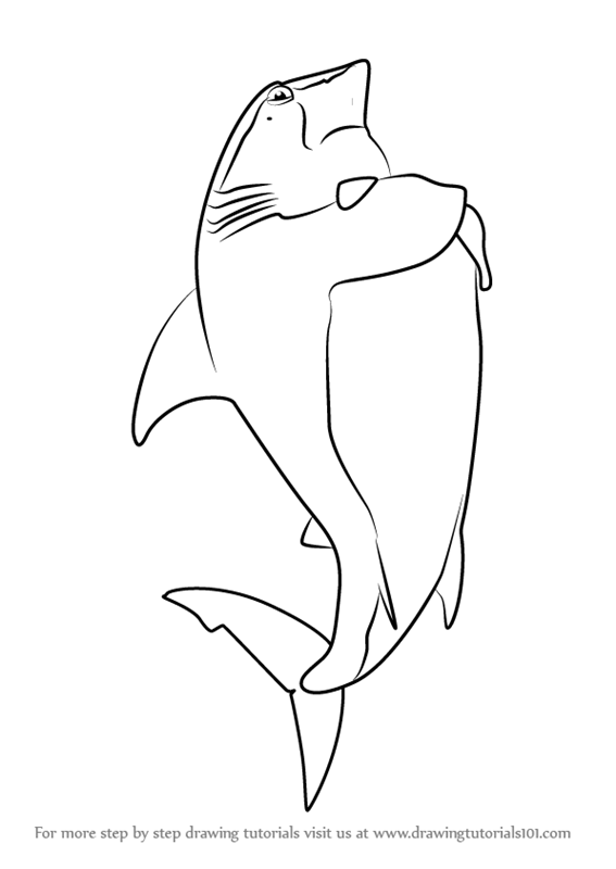 Shark tale free coloring pages ~ Learn How to Draw Don Edward Lino from Shark Tale (Shark ...