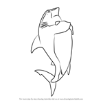 How to Draw Don Edward Lino from Shark Tale