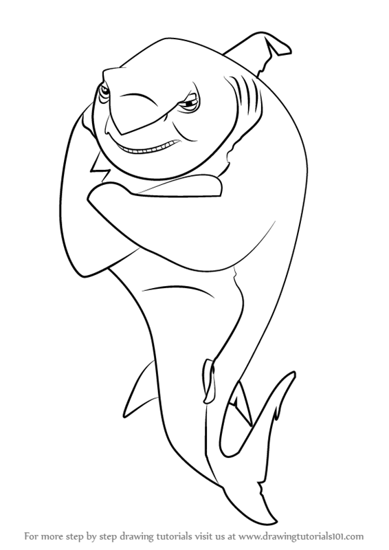 disney shark tale coloring pages - photo #7