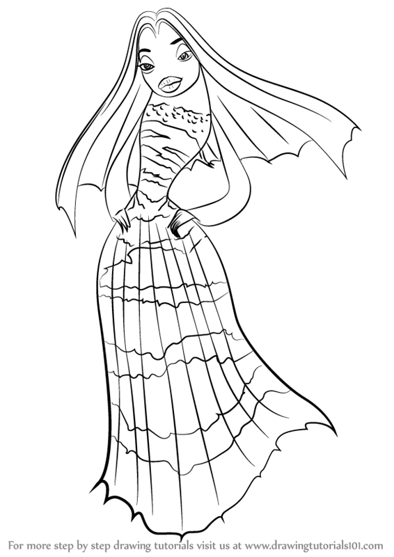Shark tale free coloring pages ~ Learn How to Draw Lola from Shark Tale (Shark Tale) Step ...