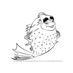 How to Draw Sykes from Shark Tale