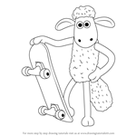 How to Draw Shaun from Shaun the Sheep