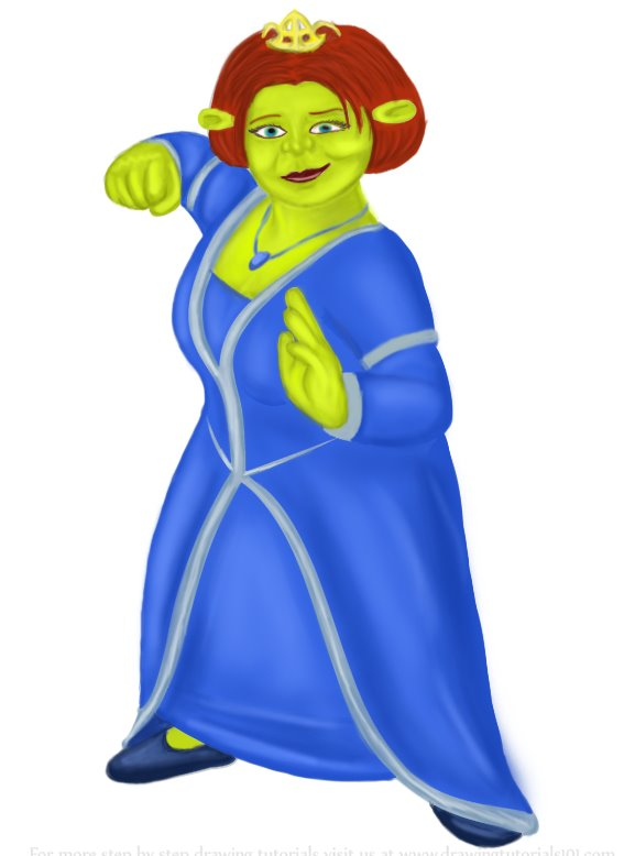 Learn How To Draw Princess Fiona From Shrek Shrek Step By Step Drawing Tutorials