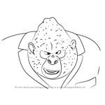 How to Draw Big Daddy from Sing