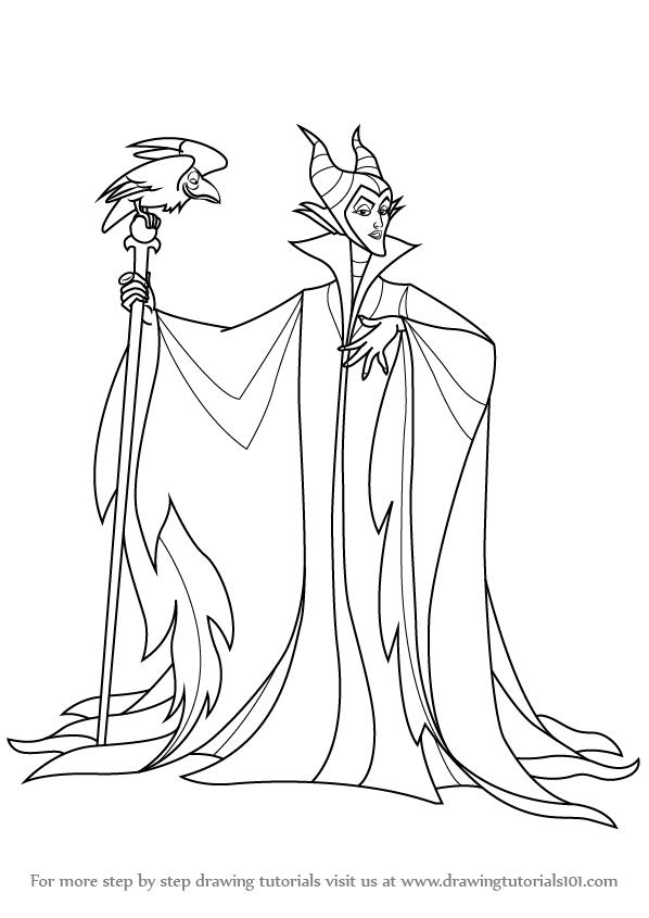 Learn Draw Maleficent Sleeping Beauty