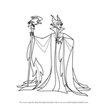 How to Draw Maleficent from Sleeping Beauty