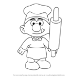 How to Draw Baker Smurf from Smurfs - The Lost Village