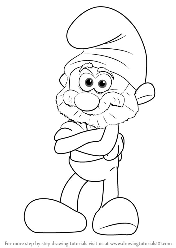 learn how to draw papa smurf from smurfs the lost