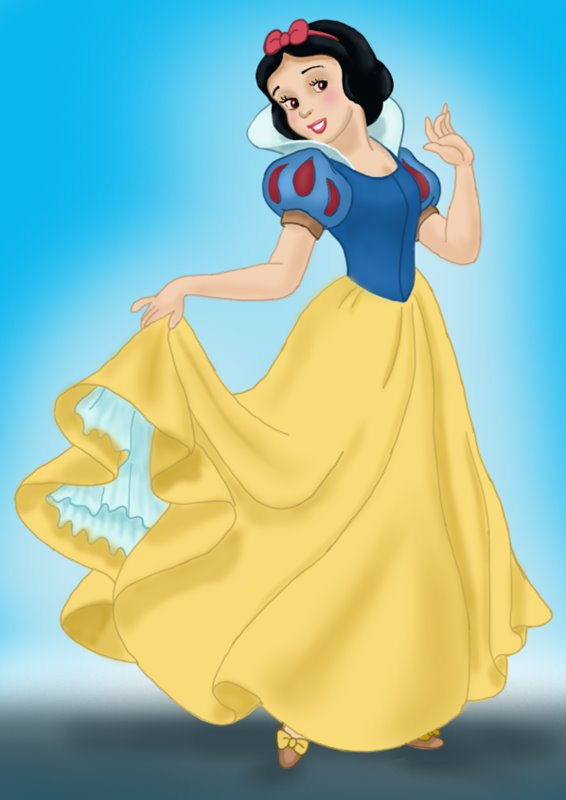 how to make snow white drawing