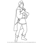 How to Draw The Prince from Snow White and the Seven Dwarfs