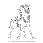 How to Draw Maximus from Tangled