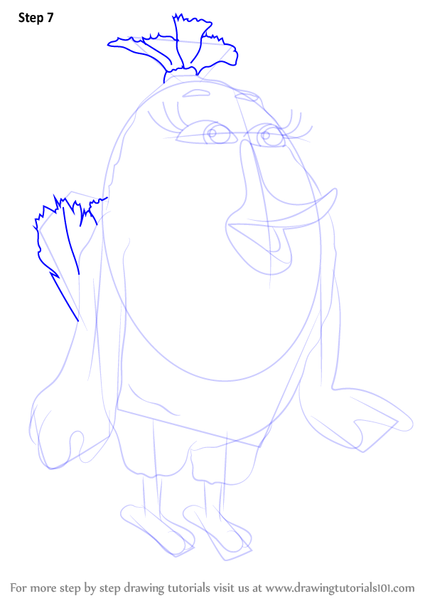 How To Draw Matilda From The Angry Birds Movie Step
