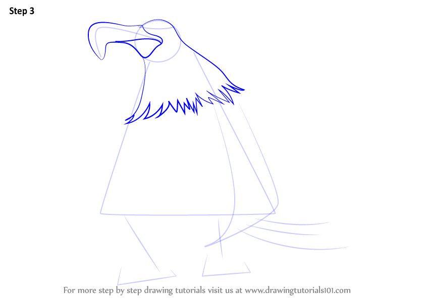 Drawing Angry Birds Movie: Learn How To Draw Mighty Eagle From The Angry Birds Movie