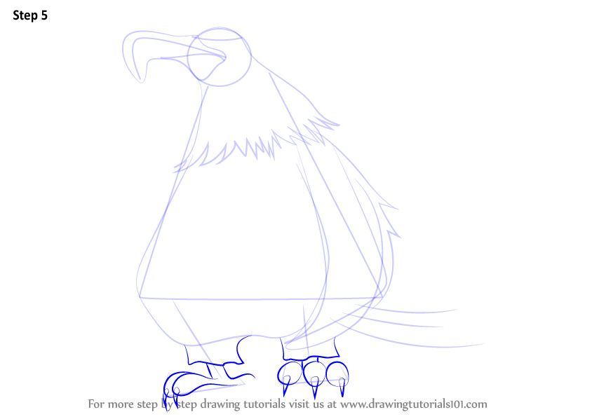 Learn How To Draw Mighty Eagle From The Angry Birds Movie
