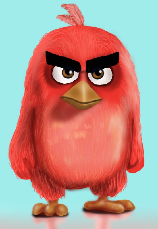 learn how to draw red from the angry birds movie the angry birds movie step by step drawing. Black Bedroom Furniture Sets. Home Design Ideas