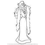 How to Draw Madame Adelaide Bonfamille from The Aristocats