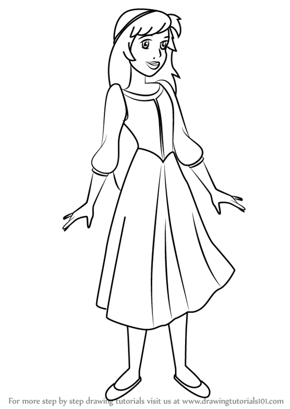 the black cauldron coloring pages - step by step how to draw princess eilonwy from the black