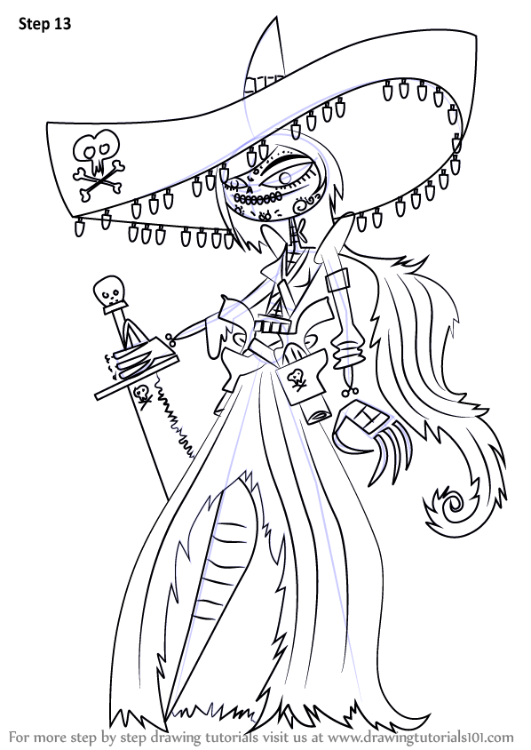 learn how to draw adelita sanchez from the book of life