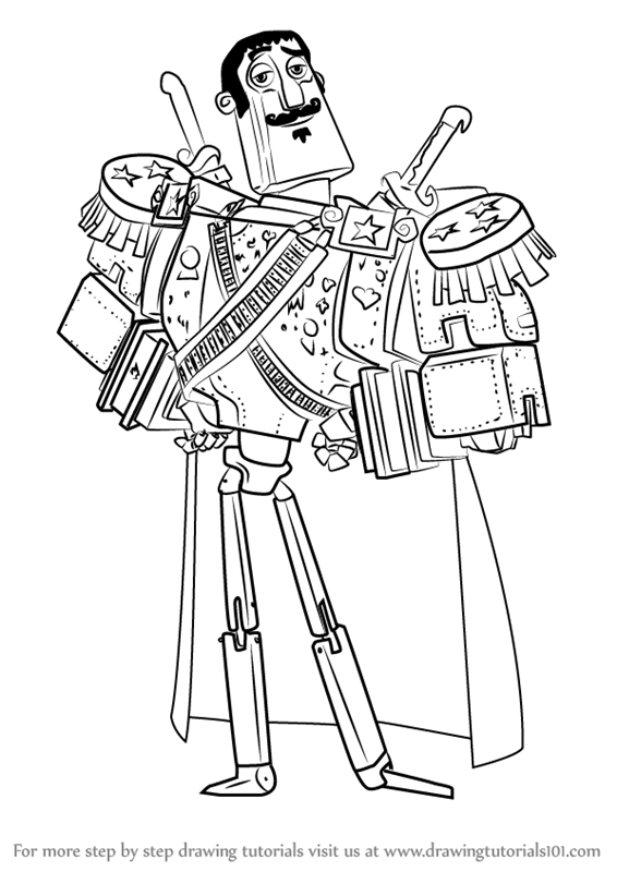 Learn How To Draw Joaquin Mondragon From The Book Of Life The Book