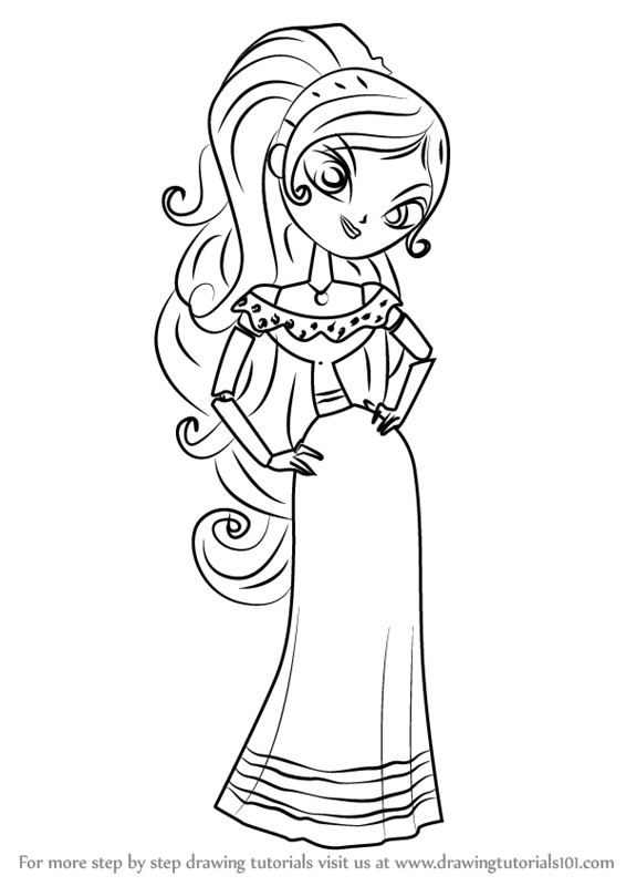 Learn How to Draw Maria Posada from The Book of Life The