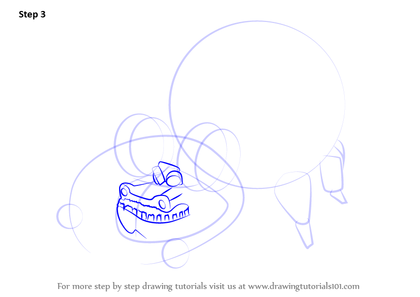 how to draw a charging bull
