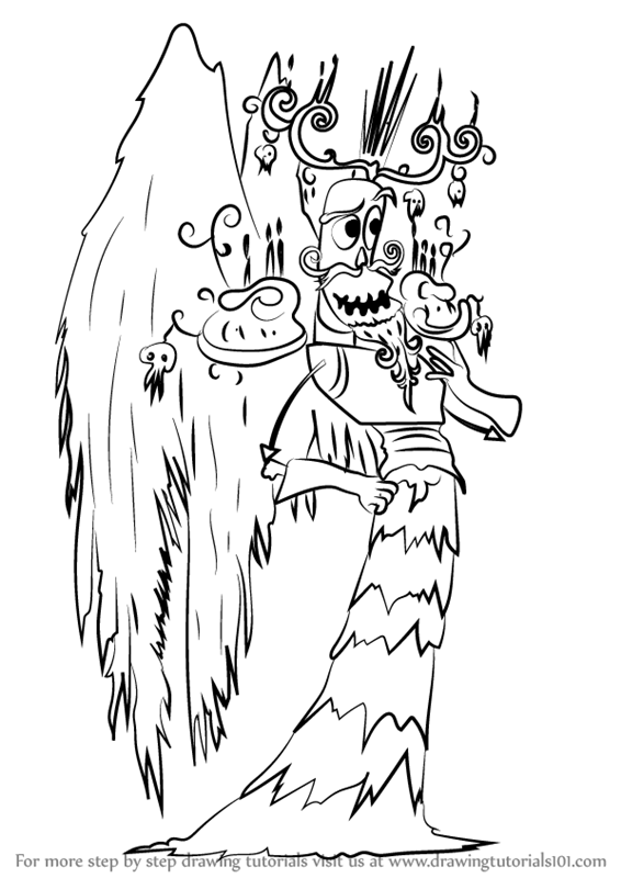 Learn How To Draw Xibalba From The Book Of Life The Book Of Life